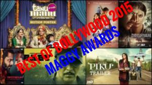 BEST OF BOLLYWOOD 2015 MAGGY AWARDS